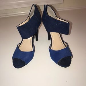 BCBG color block heel